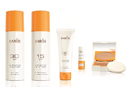 BABOR Sun Care system huidstudio leek ma