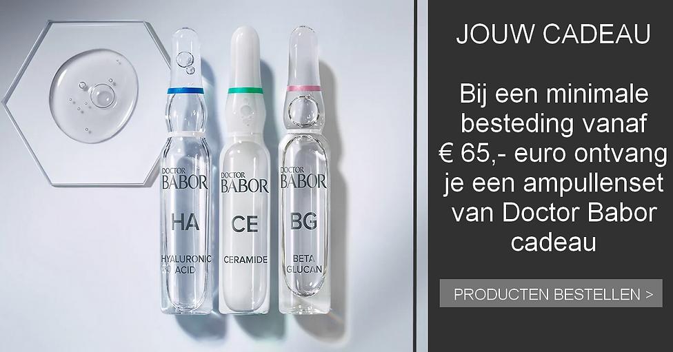 DOCTOR BABOR AMPULLENSET BEAUTYFLUIDS CADEAU BIJ EEN BESTEDING VANAF 65 EURO BIJ HUIDSTRAL