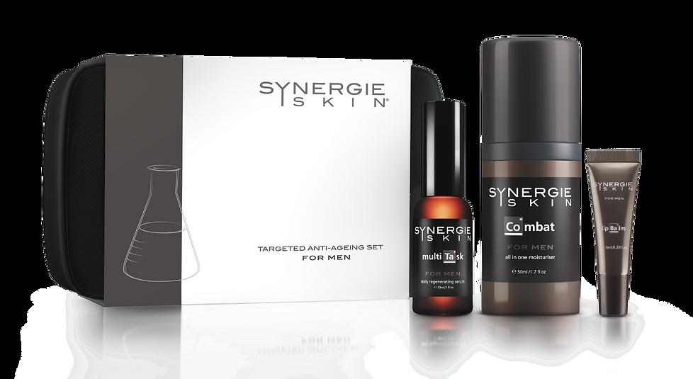 Synergie skin mannen set huidstraling.nl