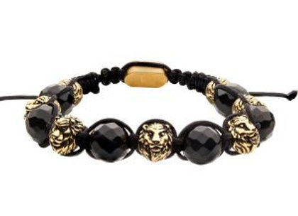 Stone Bead Adjustable Braided Bracelet