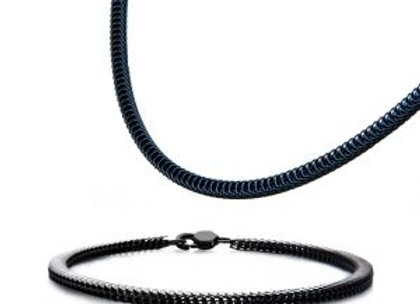 Stainless Steel Black Plated 4mm Python Bracelet