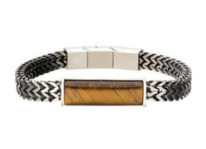 Stainless Steel Stone ID Bracelet