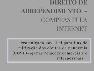 Direito de Arrependimento em Compras pela Internet - Promulgada Nova Lei