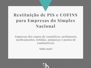 Restituição de PIS e COFINS para Empresas do Simples Nacional