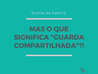 """MAS O QUE SIGNIFICA """"GUARDA COMPARTILHADA?!"""