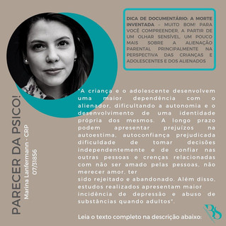 ALIENAÇÃO PARENTAL - Parecer da Psicóloga Marina Lanfermann CRP 07/31856