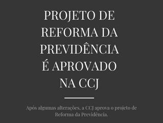 Projeto de Reforma da Previdência é Aprovado na CCJ