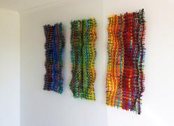 Woven Glass Triptych