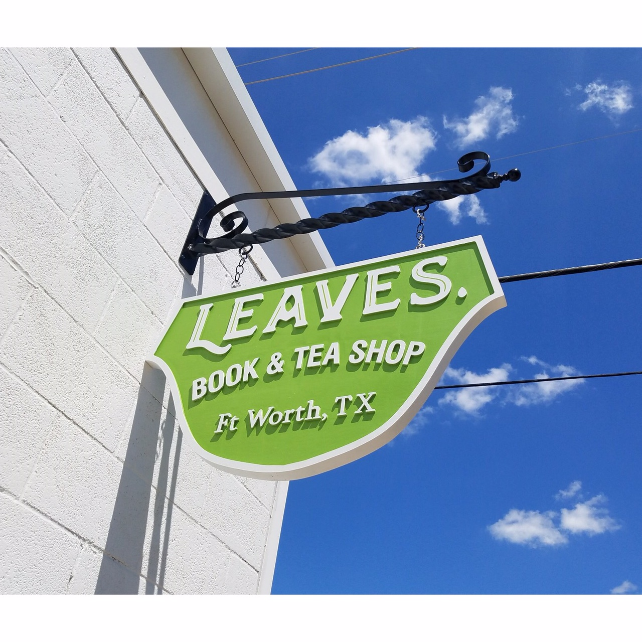Leaves Tea Shop Sign