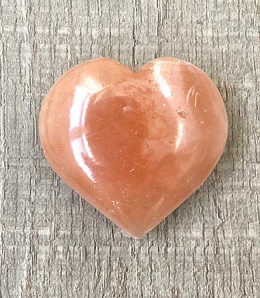 Red Selenite Puffy Heart
