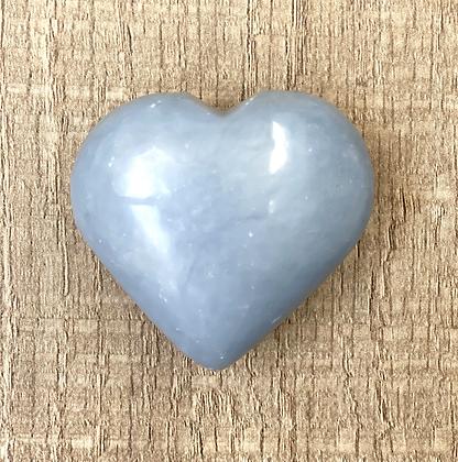 Angelite/CelestitePuffy Heart