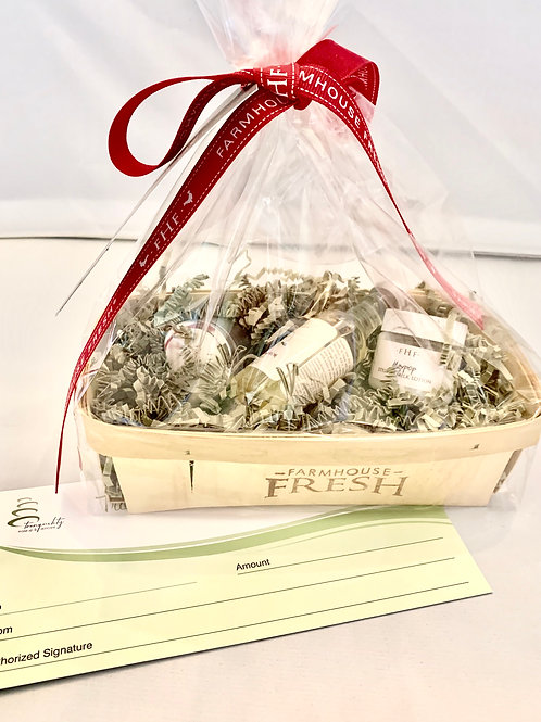 Full Facial Gift Certificate with Free Basket