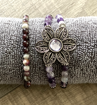 Amethyst set of Bracelets
