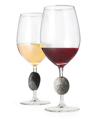 Pair of Beach Rock Wine Glasses