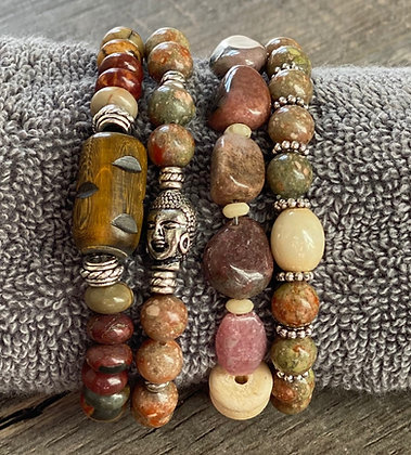Set of 4 Gemstone Bracelets