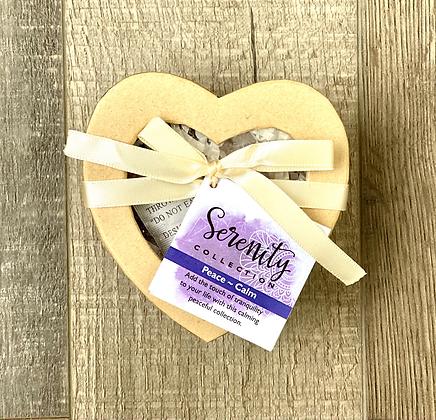 Crystal Healing Serenity Set In Heart Box