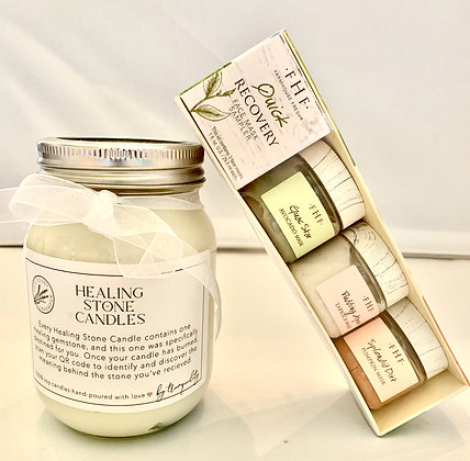 Farmhouse Fresh Mask Sampler with Healing Stone Candle