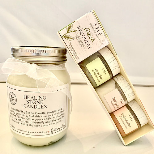 Farmhouse Fresh Quick Recovery Mask Sampler with Healing Stone Candle
