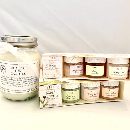Pedi and Facial masks samplers with Candle