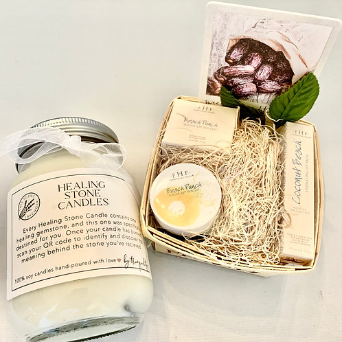 Farmhouse Fresh lip-care package with Healing Stone Candle