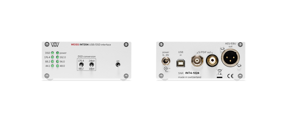 WEISS INT204 usb/dsd interface (SILVER)