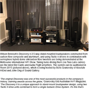 Wilson Benesch Discovery II at Melbourne Hifi Show