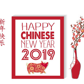 Closed for Chinese New Year 4/2/19 - 14/2/19