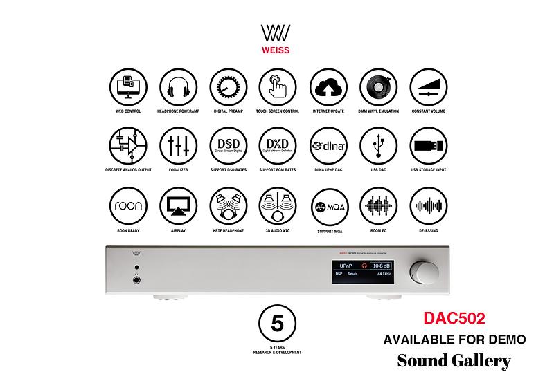WEISS DAC501/502 DSP D/A CONVERTER AND NETWORK RENDERER