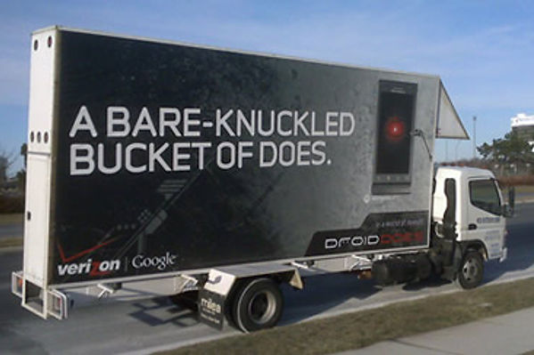 experiential marketing mobile billboard
