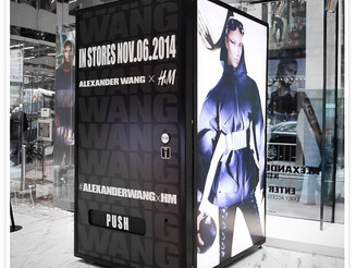 The ultimate golden ticket: H&M x Alexander Wang Vending Machine