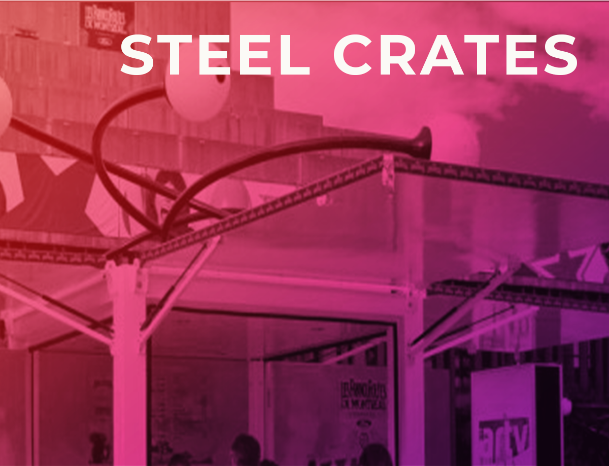 steel crate pop up shops