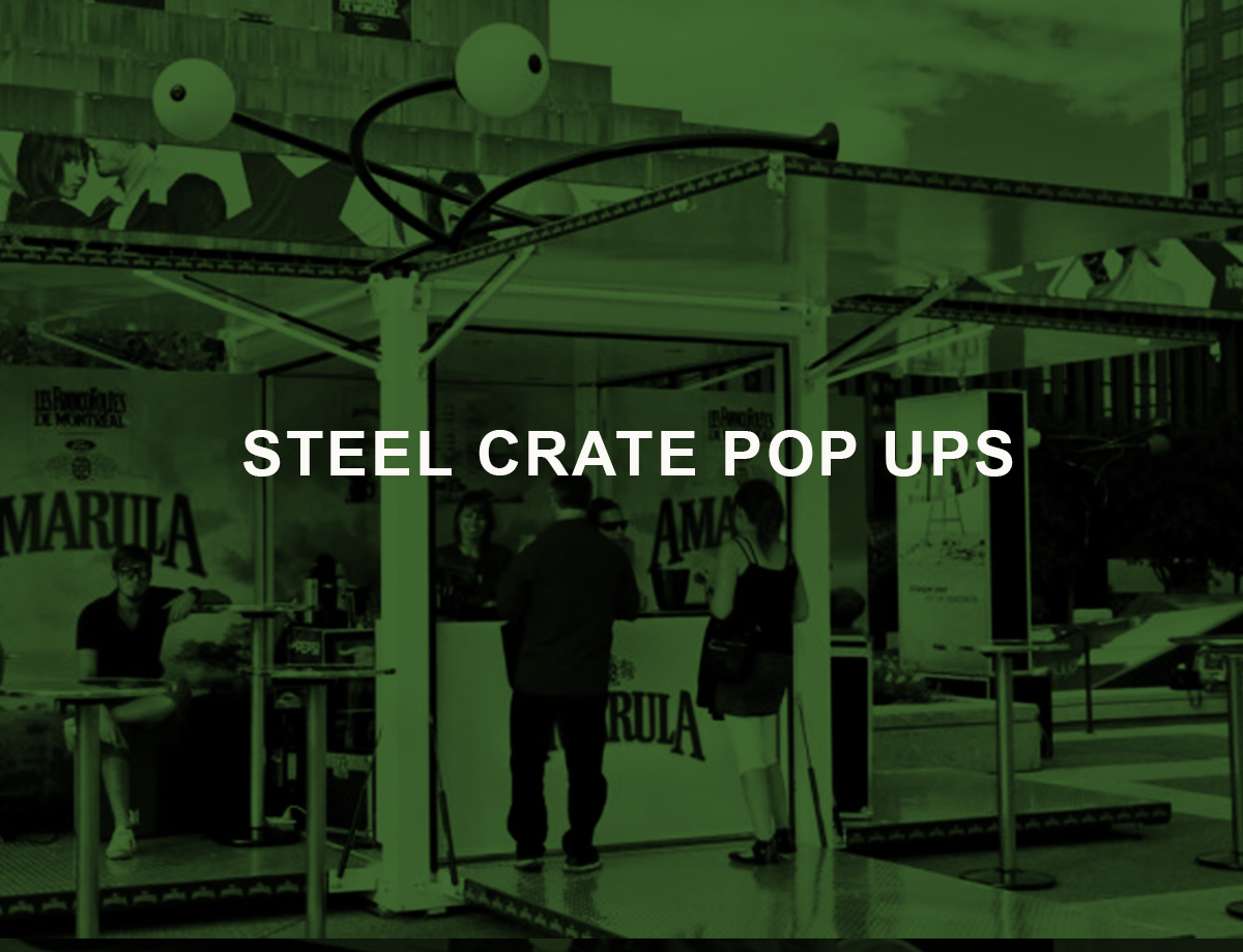 steel crate pop ups