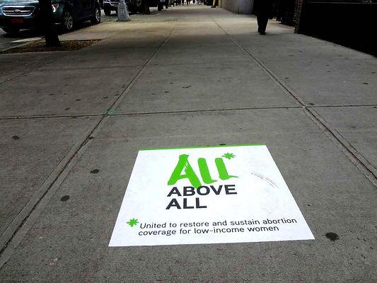 guerilla marketing with sidewalk decals