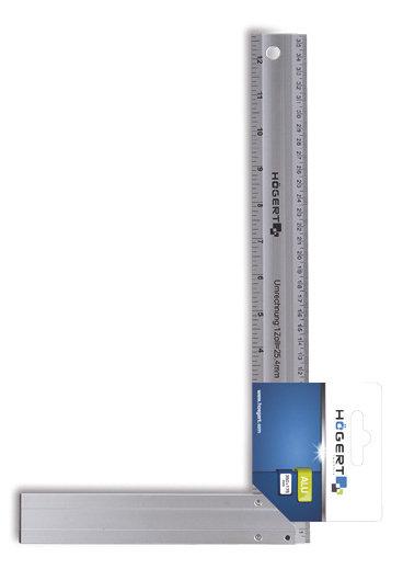 Угольник столярный алюминиевый 450х190 мм HOEGERT  HT4M206