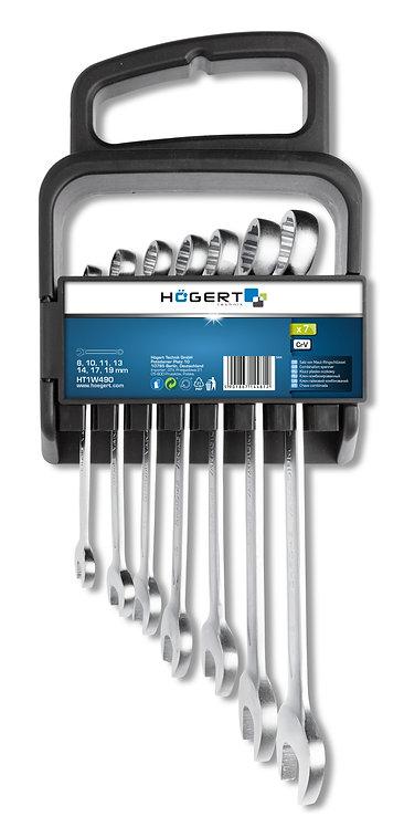 Набор комбинированных ключей, 7 шт. HOEGERT  HT1W490