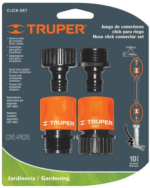 Набор коннекторов быстросъемных, аквастоп CLICK-SET TRUPER
