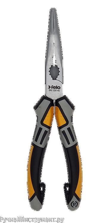 Длинногубцы с резцом угловые 205 мм Felo 59222040
