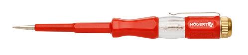 Отвертка индикатор напряжения 100-500 В, SL3, 140 мм HOEGERT HT1S982