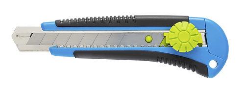 Нож с отламывающимся лезвием 18 мм, пов-я блок-ка, 3 лезвия SKS HOEGERT  HT4C605