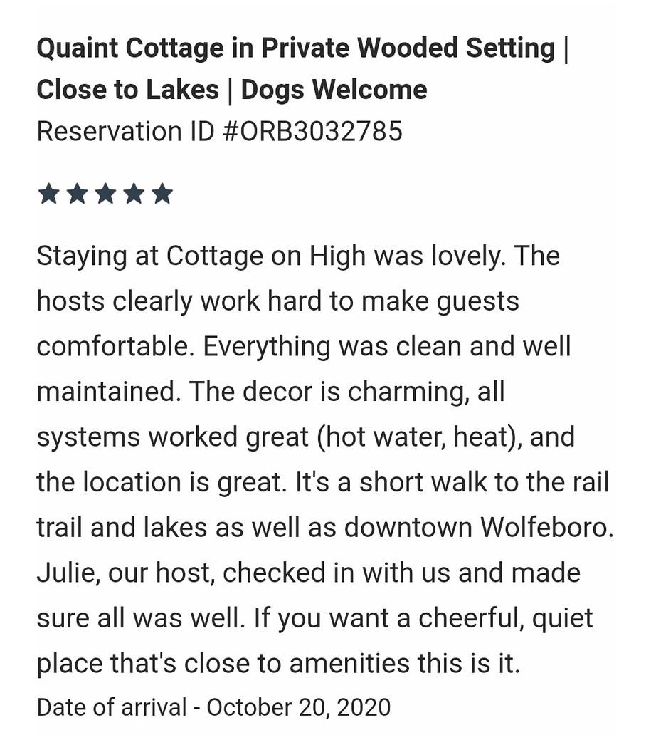 Cottage on High - VRBO