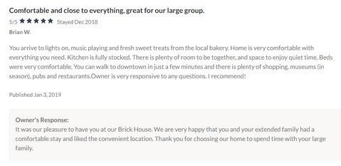 Brick House Review VRBO