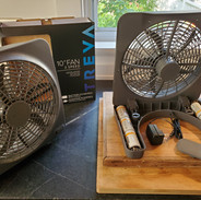 Fans - plug-in and battery operated.