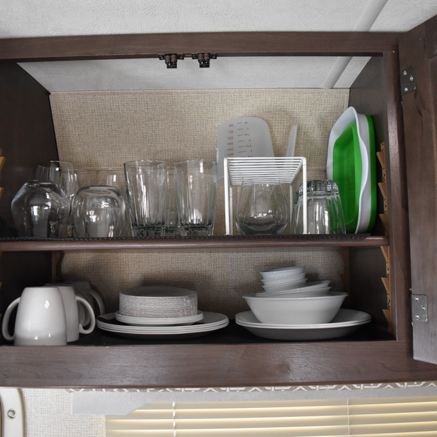 Glassware and dishes.