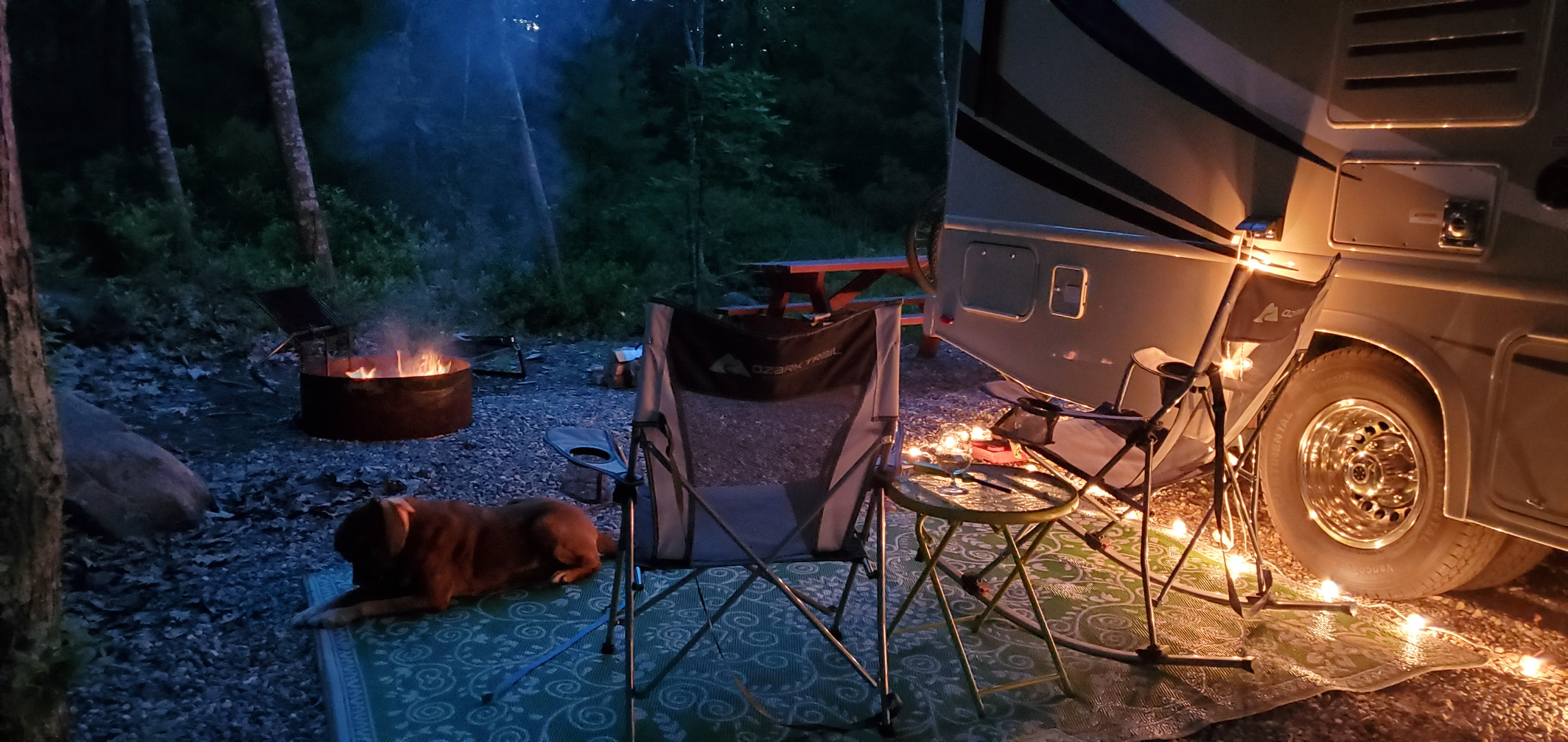 Evening at the camp.