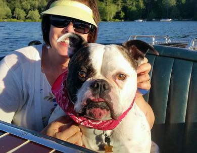 Julie and bulldog