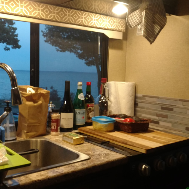 Oceanfront View from Kitchen