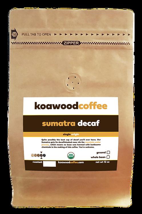 Sumatra Decaf - Certified Organic