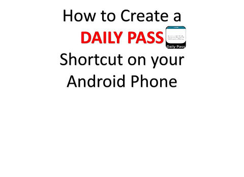How to Create a Daily Pass Shortcut on your iPhone