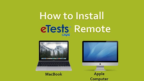 How to Install eTests Remote- Apple Version