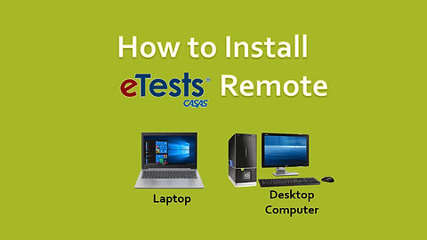 How to Install eTests Remote - Windows version